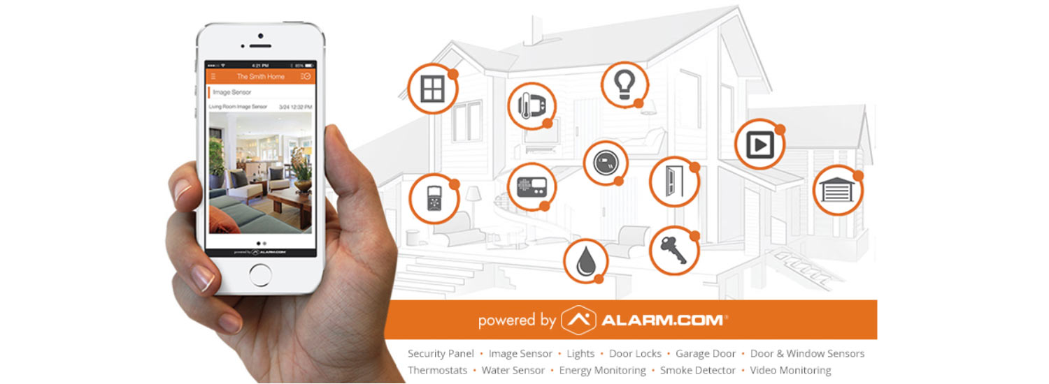 home security sensors throughout house